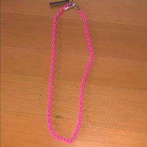 NWT jcrew hot pink link chain necklace